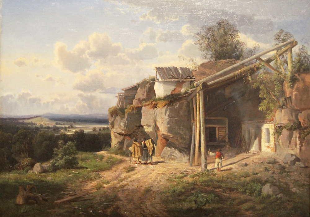Tina Blau, Zigeunerhütte bei Klausenburg, 1865, Öl auf Leinwand, 48,5 × 66 cm (Privatbesitz, München, Foto: Alexandra Matzner)