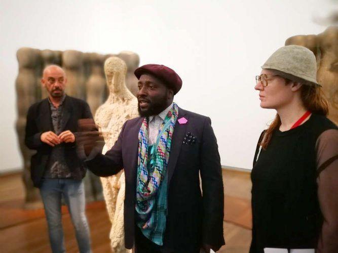Bonaventure Soh Bejeng Ndikung, Pauline Doutreluingne, Foto: Alexandra Matzner, ARTinWORDS.