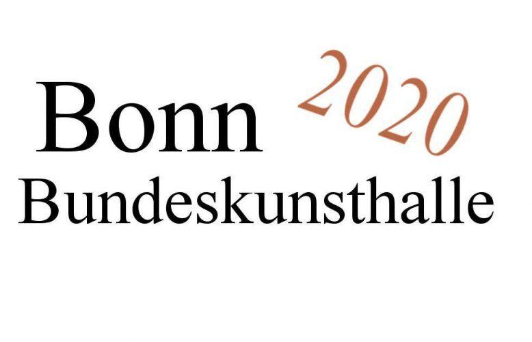 Bonn, Bundeskunsthalle, Ausstellungen 2020