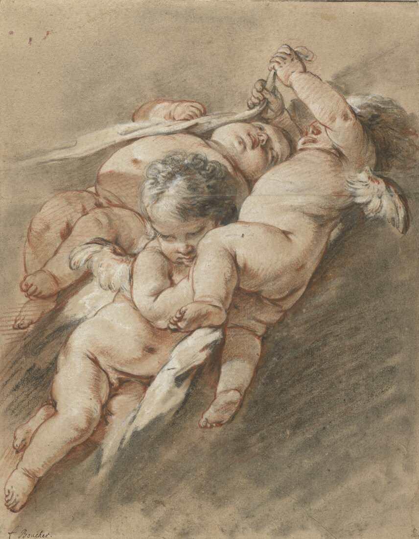 François Boucher, Drei Genien, um 1747 (Albertina, Wien)