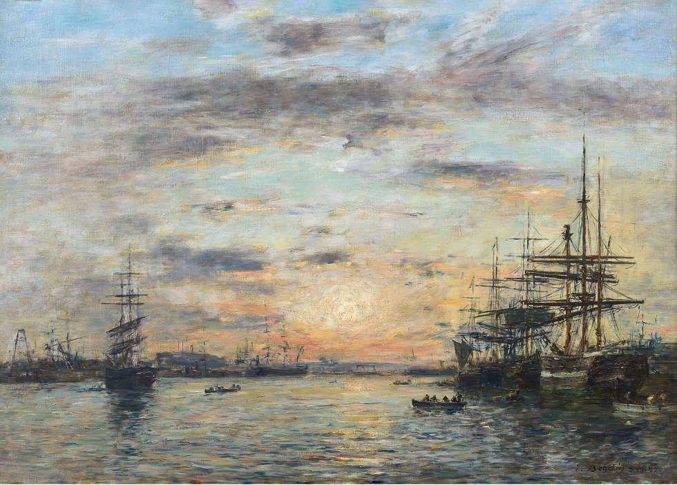 Eugène Boudin, Die Bucht der Eure in Le Havre, 1885, Öl/Lw, 65 x 90 cm (Musée d'Art, Histoire et Archéologie, Èvreux © Jean-Pierre Godais)