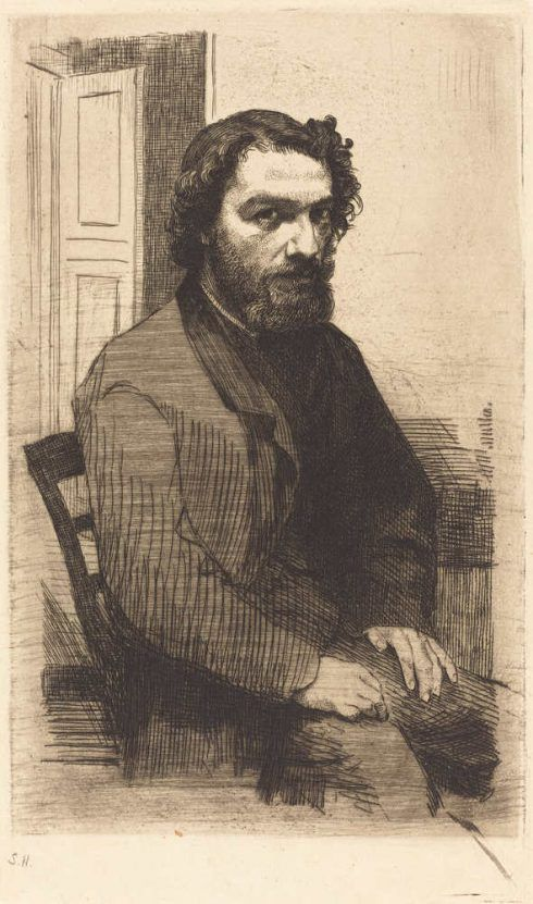 Félix Bracquemond, A. Legros, 1861, Radierung (The National Gallery of Art, Washington, Gift of George Matthew Adams in memory of his mother, Lydia Havens Adam)