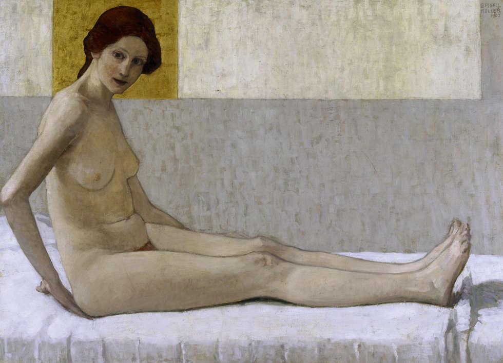 Broncia Koller-Pinell, Sitzende (Marietta), 1907 (© Sammlung Eisenberger, Wien, Foto: Vera Eisenberger KG, Wien)