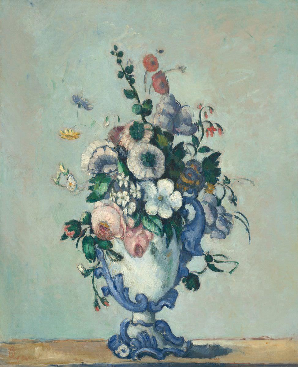 Paul Cézanne, Blumen in einer Rokoko Vase, um 1876, Öl auf Leinwand, 73 x 59.8 cm (National Gallery of Art, Washington, Chester Dale Collection, Inv.-Nr. 1963.10.105)