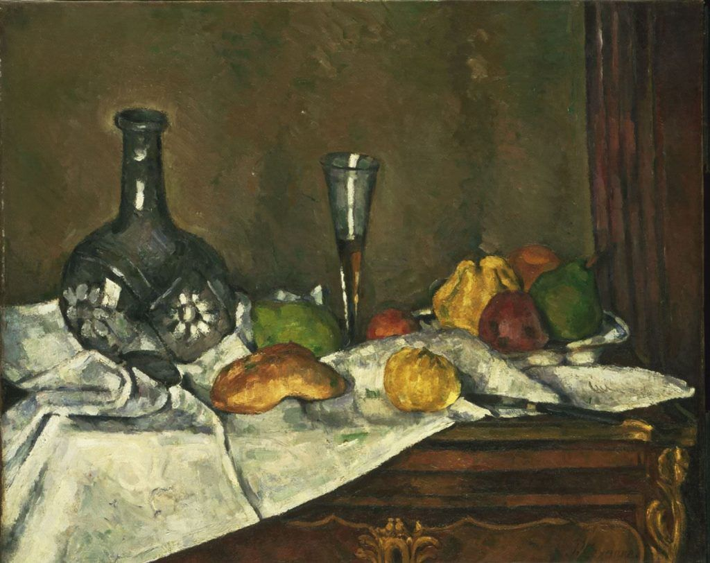 Paul Cézanne, Nature morte [Das Desert], 1877 oder 1879, Öl auf Leinwand, 59 x 72.9 cm (Philadelphia Museum of Art, The Mr. and Mrs. Carroll S. Tyson, Jr., Collection, 1963)
