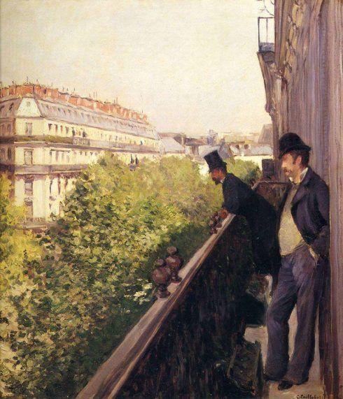 Gustave Caillebotte, Balkon, 1880, Öl auf Leinwand, 68 x 61 cm (Privatsammlung, Paris)