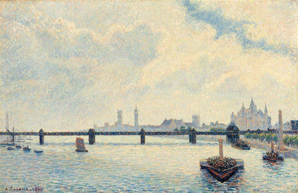 Camille Pissarro, Charing Cross Bridge, 1890, Öl/Lw, 60 x 92,4 cm (National Gallery of Art, Washington)