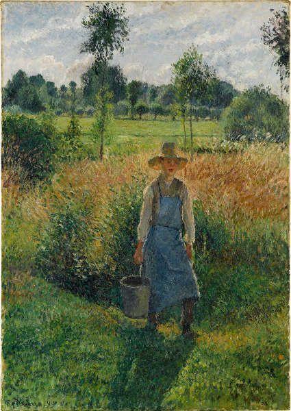Camille Pissarro, Der Gärtner, 1899 (Staatsgalerie Stuttgart, Leihgabe der Freunde der Staatsgalerie)