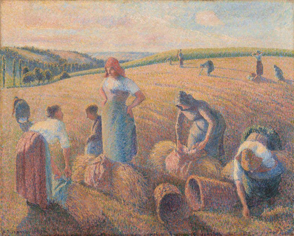 Camille Pissarro, Die Ährensammler [Les glaneuses], 1889, Öl auf Leinwand, 65.4 x 81.1 cm (Kunstmuseum Basel- Depositum der Dr. h.c. Emile Dreyfus-Stiftung, Inv. G 1970.14, Foto: Kunstmuseum Basel - Jonas Haenggi)