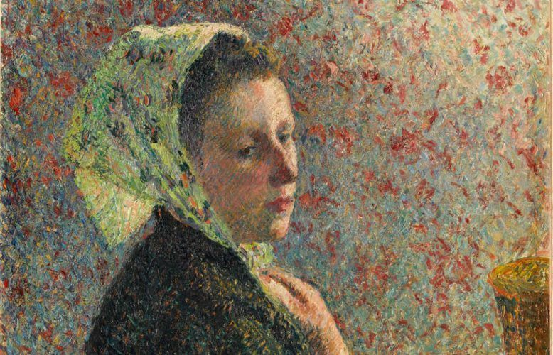 Camille Pissarro, Frau mit grünem Schal [Femme au fichu verte], Detail, 1893, Öl auf Leinwand, 65,5 x 54,5 cm (Paris, musée d'Orsay, Photo © RMN-Grand Palais (musée d'Orsay) - © Franck Raux)