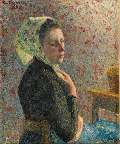 Camille Pissarro, Frau mit grünem Schal [Femme au fichu verte], 1893, Öl auf Leinwand, 65,5 x 54,5 cm (Paris, musée d'Orsay, Photo © RMN-Grand Palais (musée d'Orsay) - © Franck Raux)