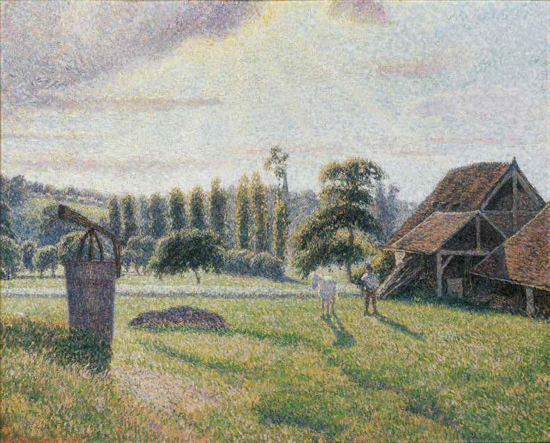 Camille Pissarro, La Briqueterie Delafolie à Éragny, 1886–1888, Öl-Lw, 55 x 72 cm (Privatsammlung)