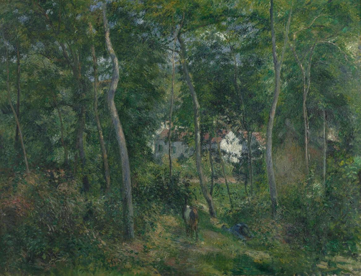 Camille Pissarro, Lisière d'un bois (Sous bois en été) [Waldrand (Unterholz im Sommer)], 1879, Öl auf Leinwand, 126 x 162 cm (The Cleveland Museum of Art, Gift of the Hanna Fund 1951.356)
