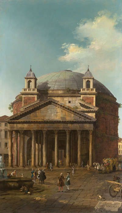 Canaletto, Das Pantheon, 1742, aus einer Serie von fünf Rom-Ansichten (Royal Collection Trust/© Her Majesty Queen Elizabeth II 2017)