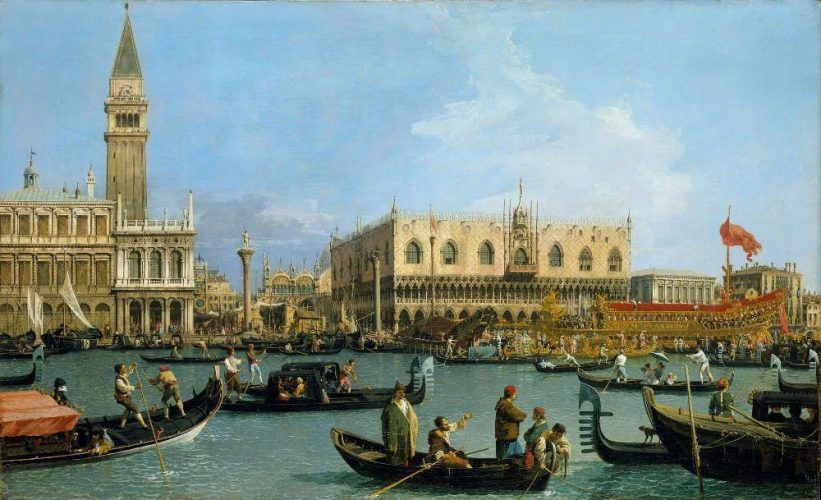 Canaletto, Venedig: Der Bacino di S. Marco zu Christi Himmelfahrt, um 1733/34, Öl/Lw, 76,8 x 125,4 cm (Royal Collection Trust/© Her Majesty Queen Elizabeth II 2016)
