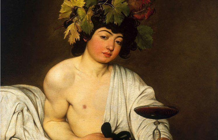 Caravaggio, Bacchus, Detail, um 1596 (Uffizien, Florenz)