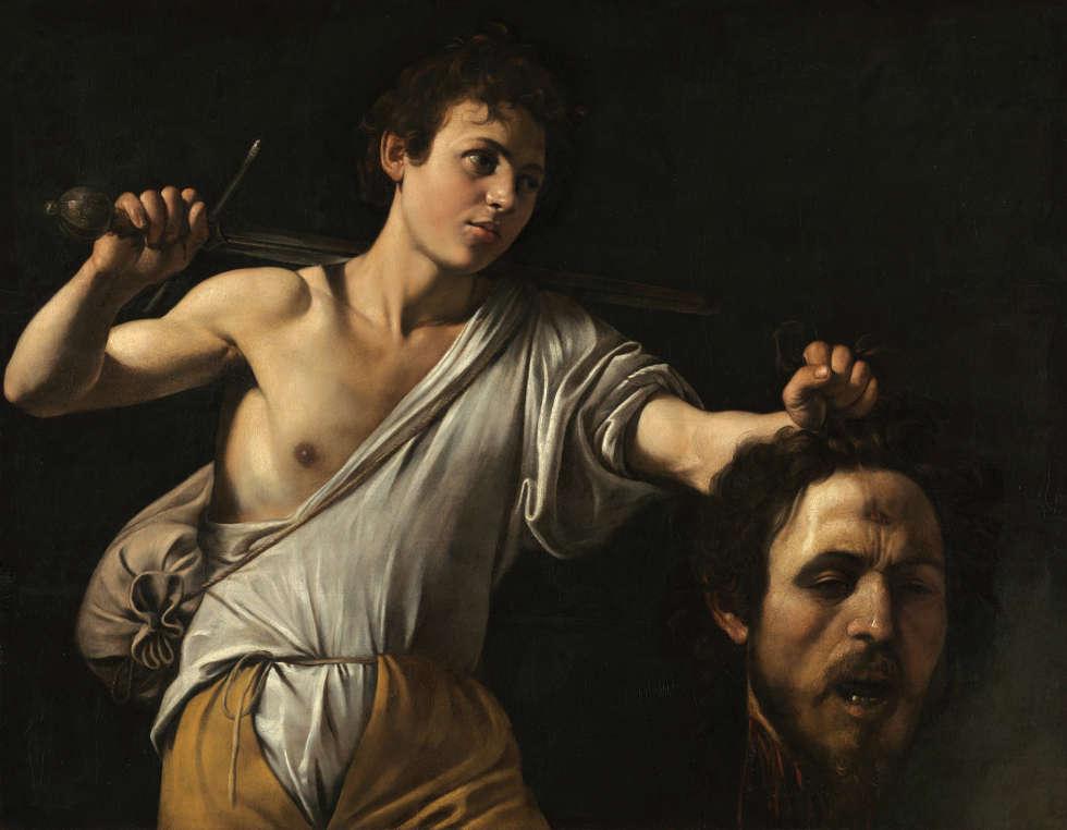 Caravaggio, David mit dem Haupt des Goliath, um 1600/01, Pappelholz, 91,2 × 116,2 cm (Kunsthistorisches Museum Wien, Gemäldegalerie © KHM-Museumsverband)
