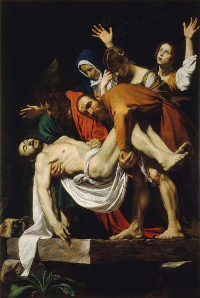 Caravaggio, Die Grablegung Christi, 1602/03, Öl/Lw, 300 x 203 cm (© Pinacoteca Vaticana, Vatikan)