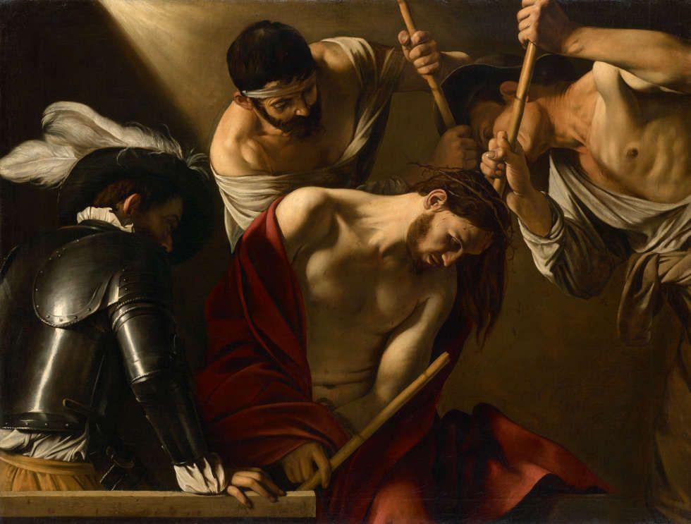 Caravaggio, Dornenkrönung Christi, um 1601, Öl/Lw, 127 × 166,5 cm (© KHM-Museumsverband)