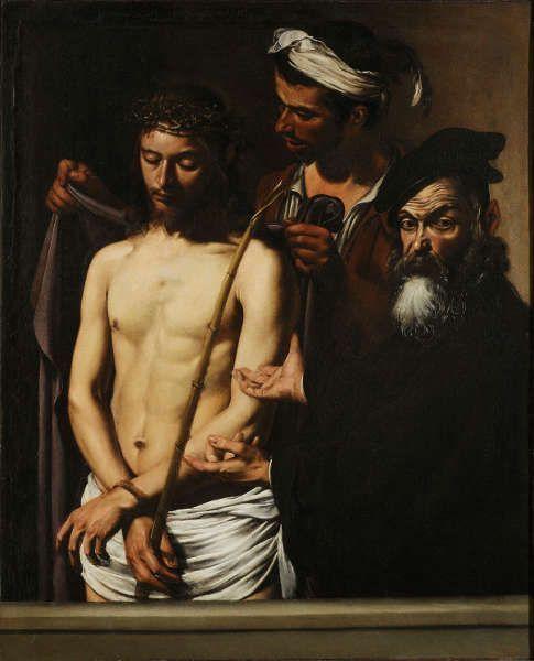 Caravaggio, Ecce Homo, Öl/Lw, 128 x 103 cm (Musei di Strada Nuova - Palazzo Bianco, Gênes © Musei di Strada Nuova, Genova)