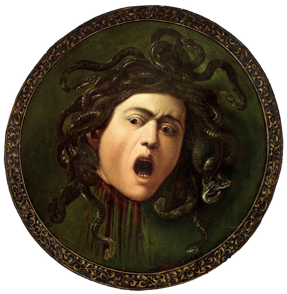 Caravaggio, Haupt der Medusa, 1597/98 (Privatsammlung)