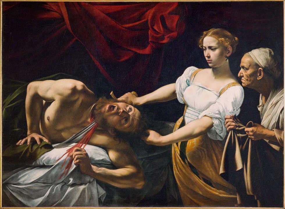 Caravaggio, Judith und Holofernes, 1598, Öl/Lw, 145x195 cm (Gallerie Nazionali di Arte Antica di Roma. Palazzo Barberini, Rom © Gallerie Nazionali di Arte Antica di Roma. Palazzo Barberini Foto di Mauro Coen)