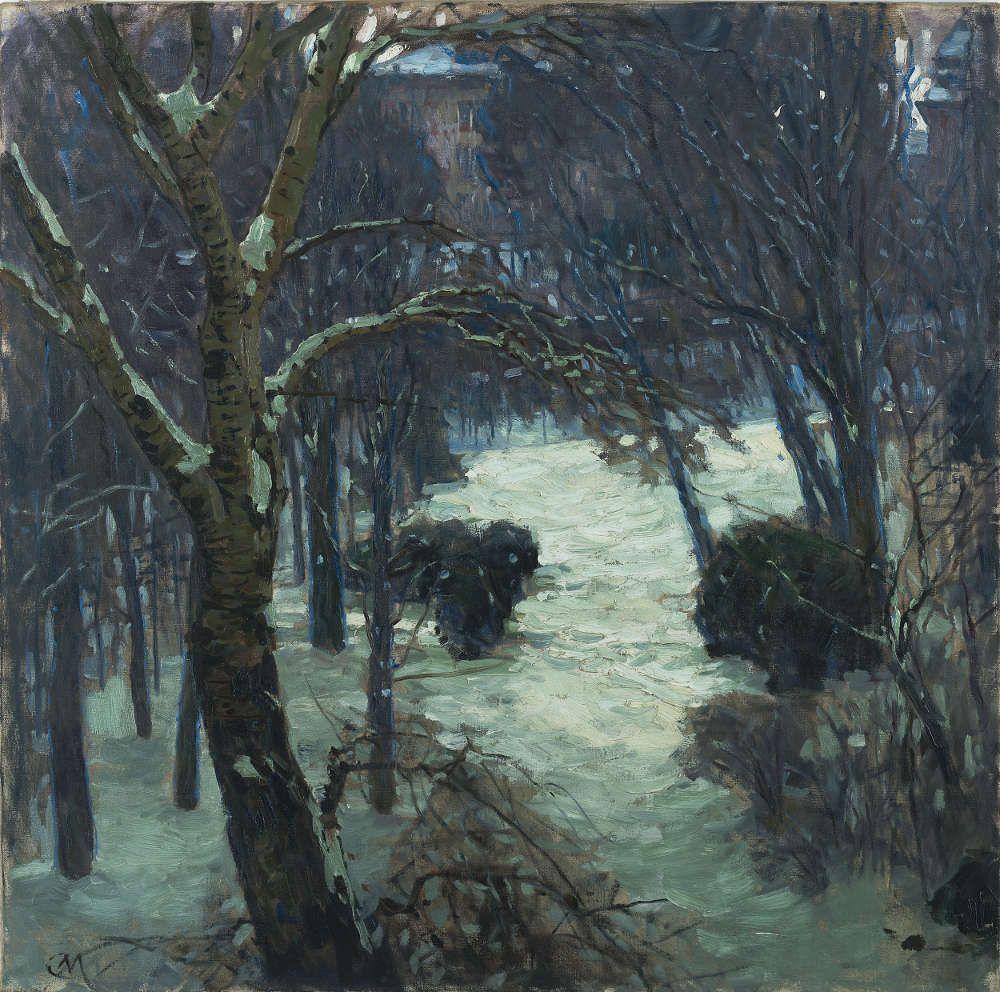 Carl Moll, Winter auf der Hohen Warte, 1912/1914, Öl/Lw (Leopold Museum)