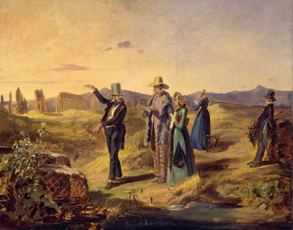 Carl Spitzweg, Engländer in der Campagna, um 1835, Öl auf Papier (© Staatliche Museen zu Berlin, Nationalgalerie / Jörg P. Anders)