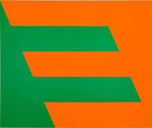 Carmen Herrera, Green and Orange, 1958, Acryl auf Leinwand, 152,4 x 182,9 cm (Sammlung Paul and Trudy Cejas, © Carmen Herrera, Foto: © Kunstsammlung NRW)
