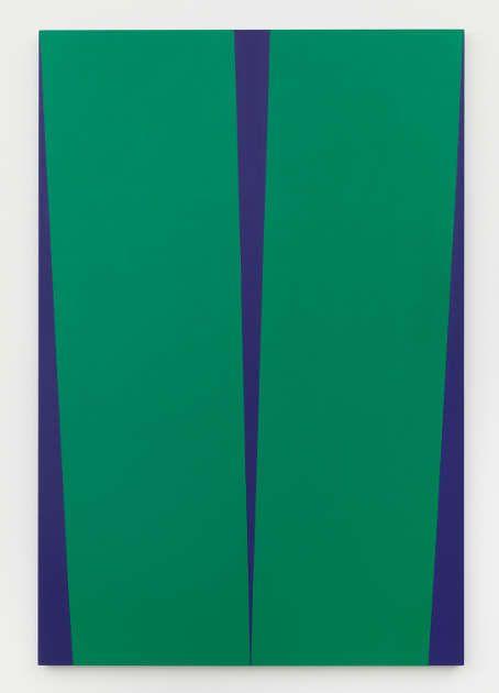 Carmen Herrera, Verde De Noche, 2017, Acryl auf Leinwand, 182,9 x 121,9 cm (Privatsammlung, Courtesy Lisson Gallery, © Carmen Herrera, Foto: © Kunstsammlung NRW)