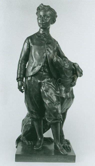 Jean-Baptiste Carpeaux, Der Prinz mit seinem Hund Nero, 1865 (Baltimore, Maryland, Maryland Historical Societ)