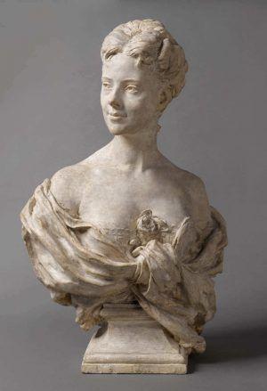 Jean-Baptiste Carpeaux, Eugénie Fiocre, 1869, Gips, 83 x 51 x 37 cm (Paris, Musée d'Orsay, RF 930 © Musée d'Orsay, Dist. RMN-Grand Palais / Patrice Schmidt)