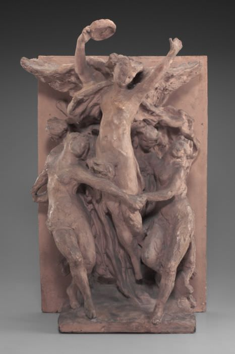 Jean-Baptiste Carpeaux, Genius des Tanzes, um 1872, originaler Gips (Detroit, Michigan, Detroit Institute of Arts)