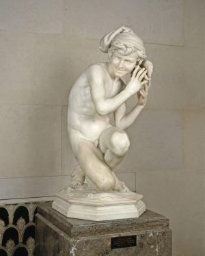 Jean-Baptiste Carpeaux, Neapolitanischer Fischerknabe, 1857-nach 1861, Marmor (Washington, D.C., District of Columbia, The National Gallery of Art)
