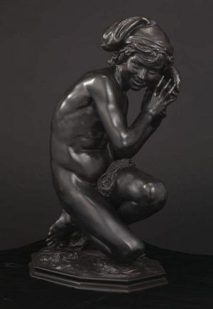 Jean-Baptiste Carpeaux, Neapolitanischer Fischerknabe, gegossen um 1859 von dem Modell 1857-1858, Bronze (Minneapolis, Minnesota, The Minneapolis Institute of Art)