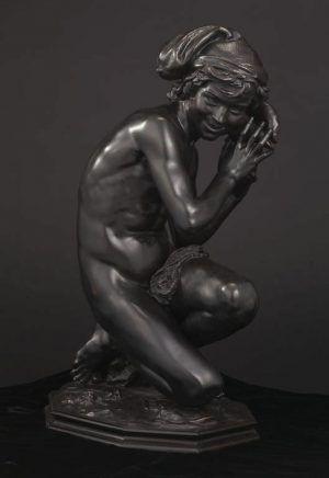 Jean-Baptiste Carpeaux, Neapolitanischer Fischerknabe, gegossen um 1859 von dem Modell 1857-1858, Bronze (Minneapolis, Minnesota, The Minneapolis Institute of Art)