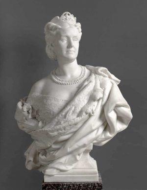 Jean-Baptiste Carpeaux, La Princesse Mathilde [Prinzessin Mathilde], 1862, Marmor, 95,3 x 70,4 x 43,7 cm (Paris, Musée d'Orsay © Musée d'Orsay, Dist. RMN-Grand Palais / Patrice Schmidt)