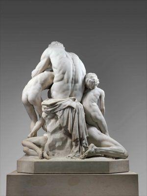 Jean-Baptiste Carpeaux, Ugolino und seine Söhne, Rückansicht, 1860 (The Metropolitan Museum, New York)