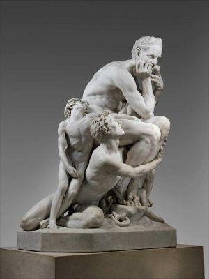 Jean-Baptiste Carpeaux, Ugolino und seine Söhne, seitlich, 1860 (The Metropolitan Museum, New York)