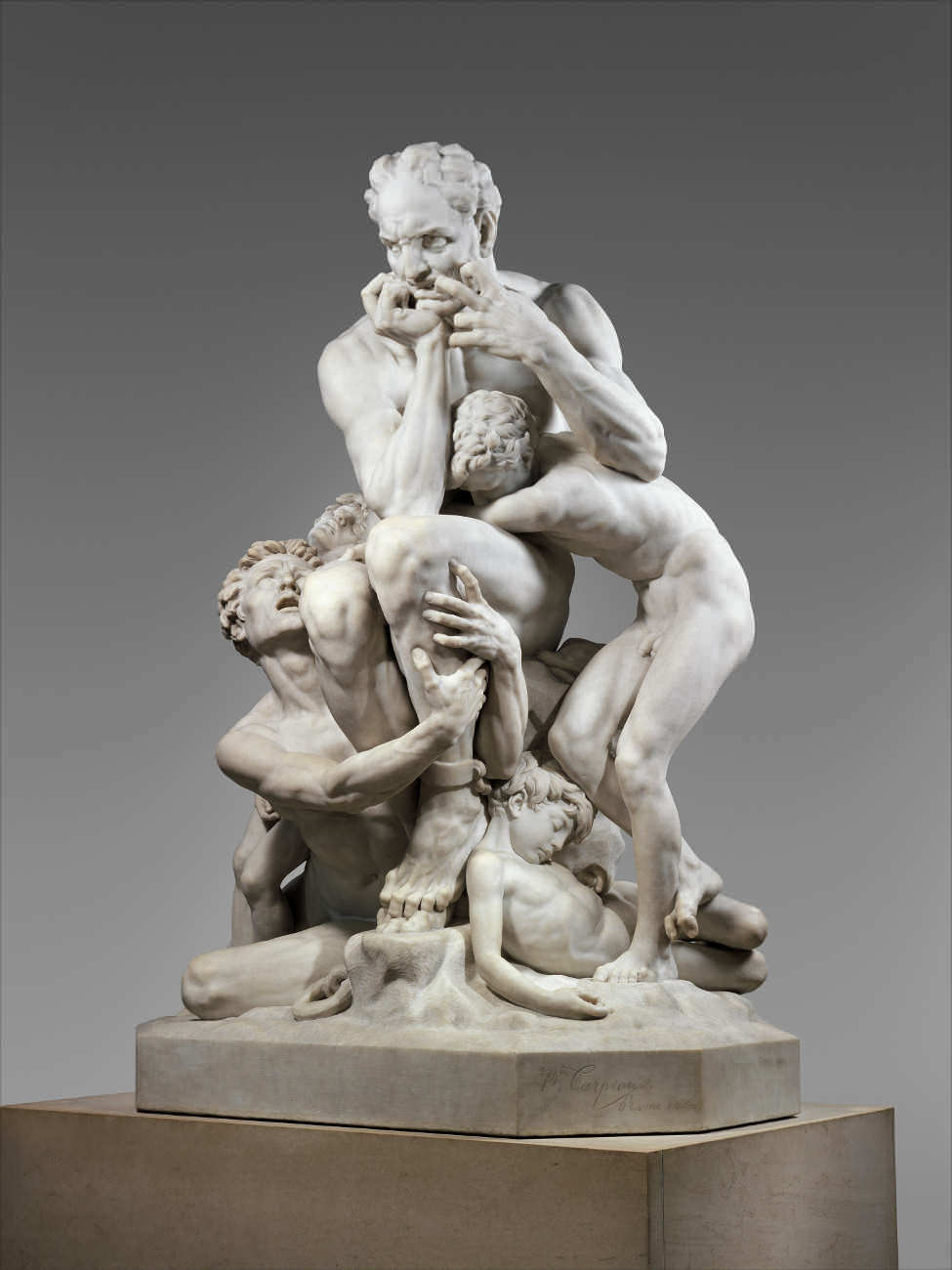 Jean-Baptiste Carpeaux, Ugolino und seine Söhne, Schräganblick, 1860 (The Metropolitan Museum, New York)