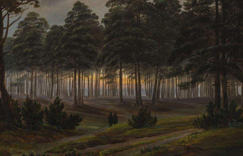 Caspar David Friedrich, Der Abend, Detail, vor 1820/21, Öl auf Holz, 22,5 x 31,2 cm (Museum Georg Schäfer, Schweinfurt © Museum Georg Schäfer, Schweinfurt)