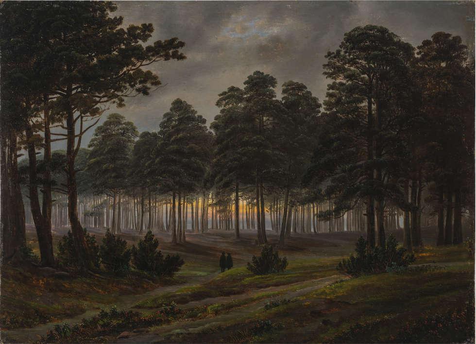 Caspar David Friedrich, Der Abend, vor 1820/21, Öl auf Holz, 22,5 x 31,2 cm (Museum Georg Schäfer, Schweinfurt © Museum Georg Schäfer, Schweinfurt)