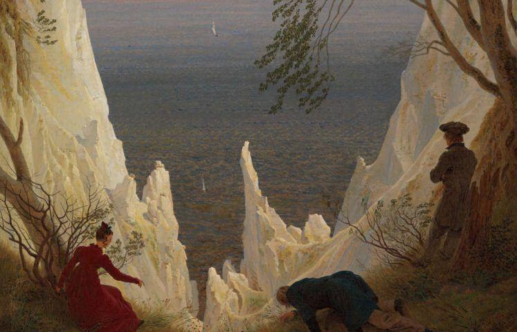 Caspar David Friedrich, Kreidefelsen auf Rügen, Detail, 1818, Öl auf Leinwand, 90 x 70 cm (Kunst Museum Winterthur © Kunst Museum Winterthur)