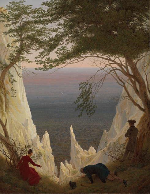 Caspar David Friedrich, Kreidefelsen auf Rügen, 1818, Öl auf Leinwand, 90 x 70 cm (Kunst Museum Winterthur © Kunst Museum Winterthur)