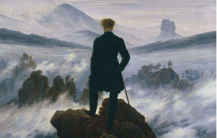 Caspar David Friedrich, Wanderer über dem Nebelmeer, Details, um 1817 (© SHK/Hamburger Kunsthalle/bpk, Foto: Elke Walford)