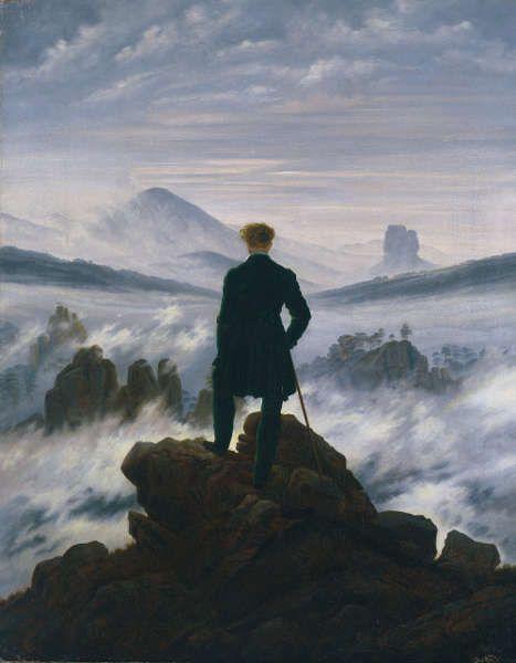 Caspar David Friedrich, Wanderer über dem Nebelmeer, um 1817 (© SHK/Hamburger Kunsthalle/bpk, Foto: Elke Walford)