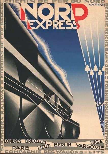 Cassandre, Nordexpress, Plakat, 1927, © Kunstbibliothek – Staatliche Museen zu Berlin
