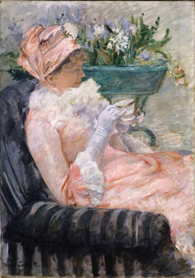 Mary Cassatt, Le thé [Der Tee], 1879, Öl auf Leinwand, 92.4 x 65.4 cm (The Metropolitan Museum of Art, New York, From the Collection of James Stillman, Gift of Dr. Ernest G. Stillman, 1922)