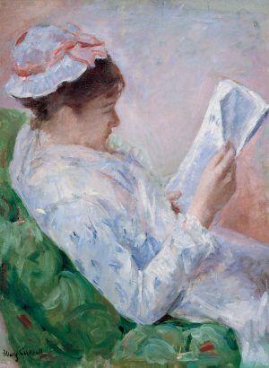 Mary Cassatt, Femme lisant [Porträt von Lydia Cassatt], 1878/79, Öl auf Leinwand, 81,28 x 59,69 cm (Joslyn Art Museum, Omaha, Museum purchase, Joslyn Endowment Fund, 1943.38)