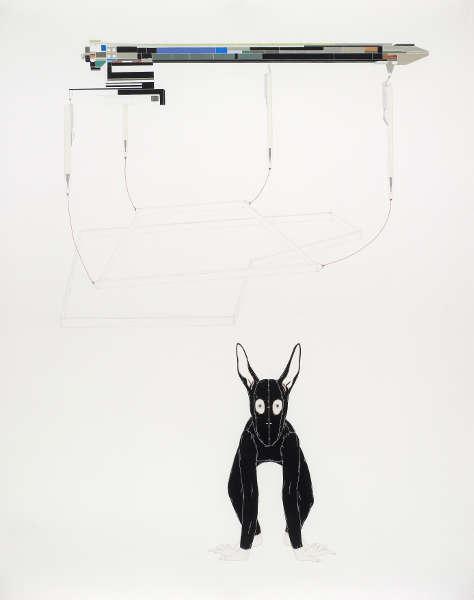 Catharina van Eetvelde, Equation, 2007, Gouache und Grafit auf Papier, 162 x 130 cm (Schenkung der Sammlung Florence und Daniel Guerlain, 2012 | Centre Pompidou – Musée National d'Art Moderne, Paris)